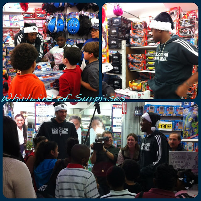 NBA stars Brooklyn Nets sings Christmas Carols and shops with kids