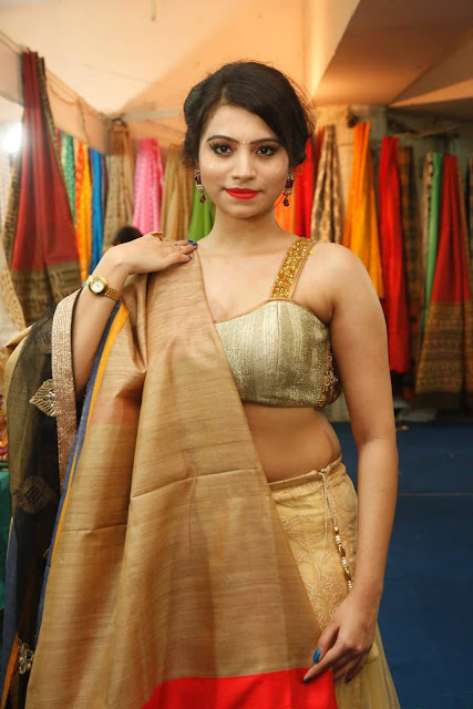 Priyanka Ramana Pics at National Silk Expo Launch Hyderabad