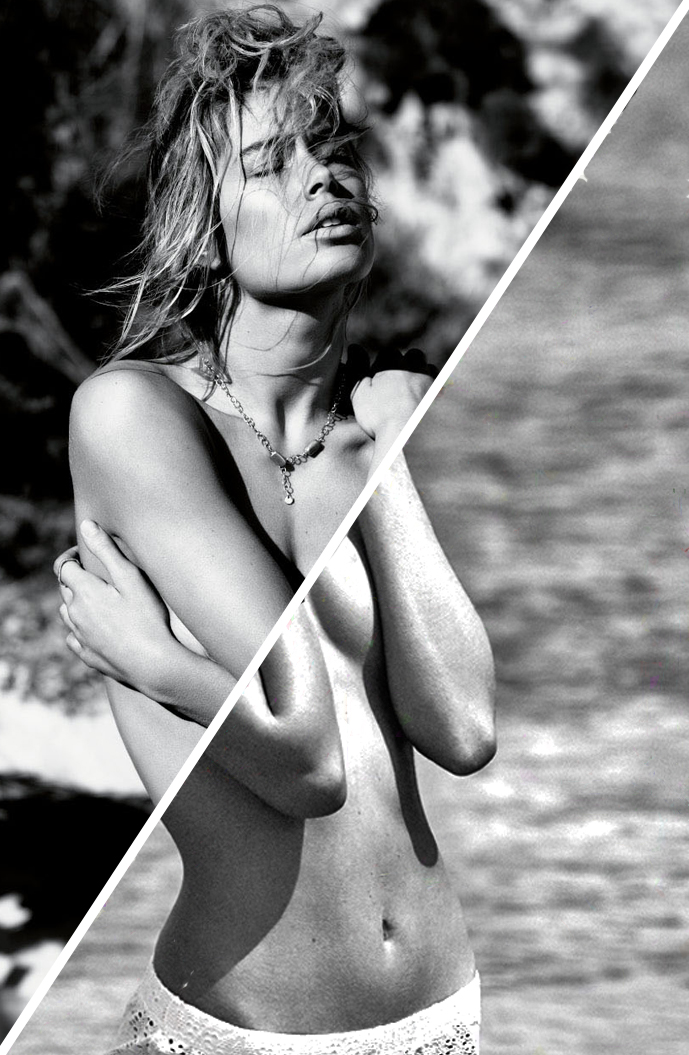 Doutzen Kroes photographed by Josh Olins & styled by Clare Richardson for Cast away / Vogue UK January 2013 / Melissa Tammerijn photographed by Xavi Gordo & styled by Anna Artamonova for Elle Russia July 2014 / fashion editorials with similar themes / summer fashion editorials / beach editorials / via fashioned by love british fashion blog