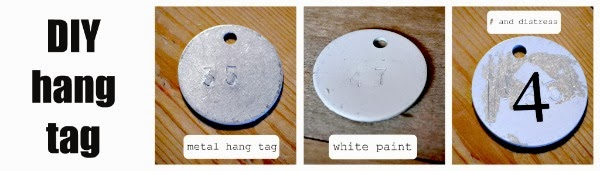 distressed metal hang tags www.homeroad.net