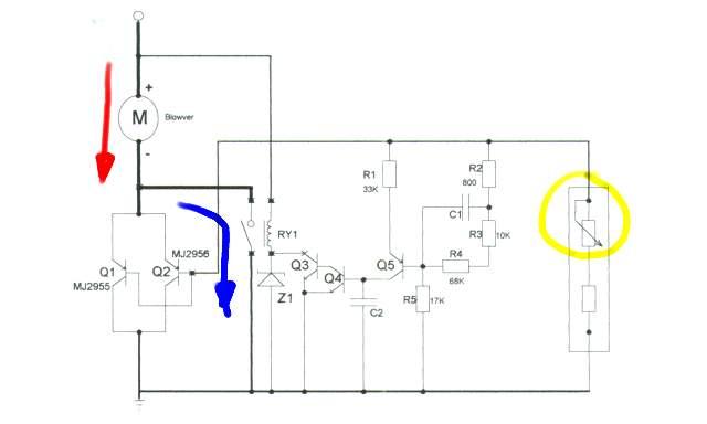 схеме резистором открывает