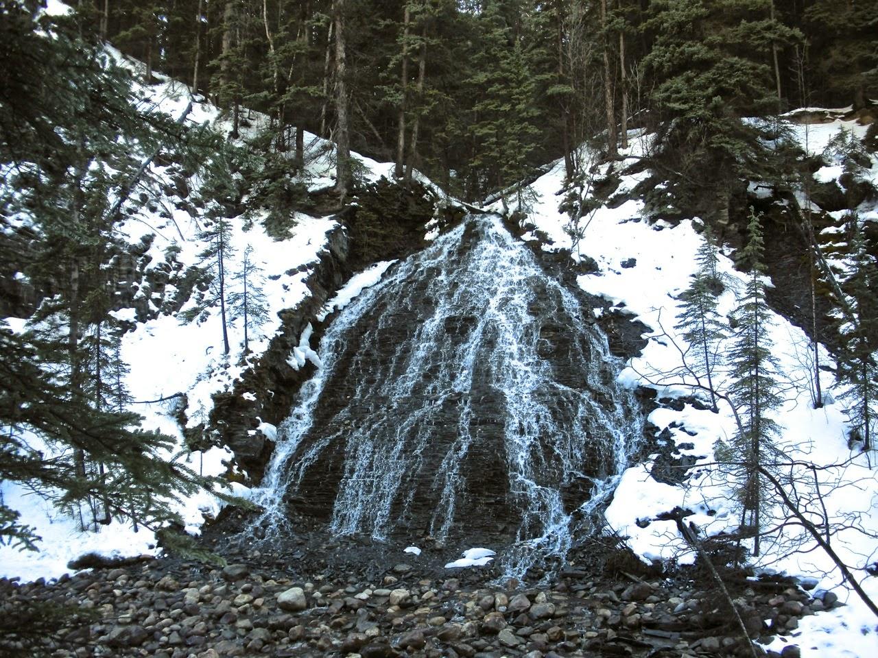 bridal veil falls maligne canyon