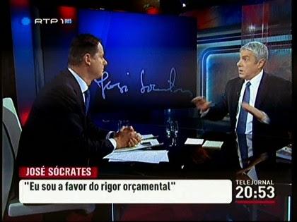 José Rodrigues dos Santos armado em cão raivoso com Sócrates