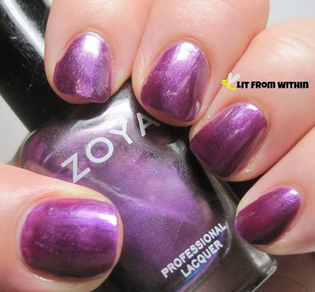 Zoya Juno, a red-violet shimmer