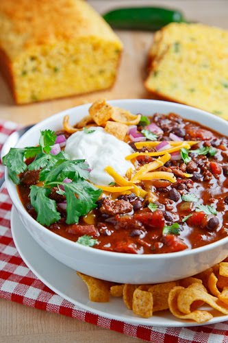 Beef and Black Bean Chili on Closet Cooking