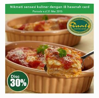 Nikmati sensasi kuliner di dante coffee shop dengan iB hasanah card