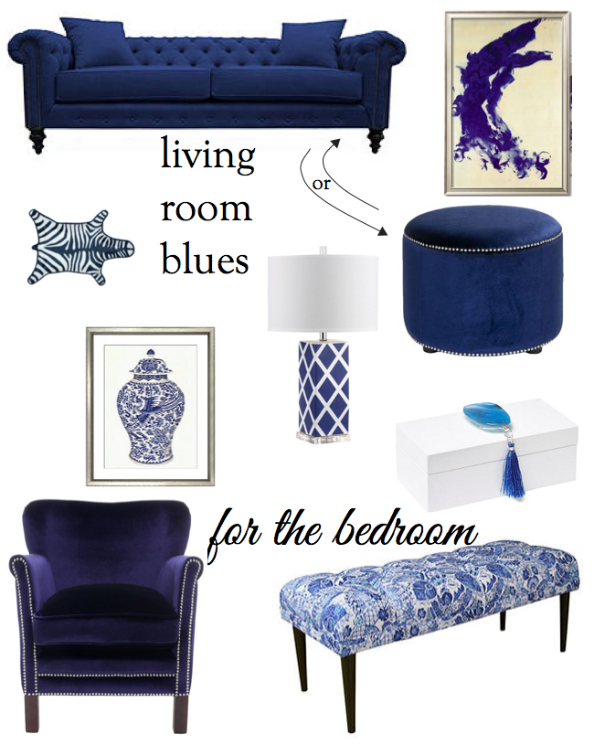 Blue Living Room Decor featured by top Boston lifestyle blog, Feathers and Stripes