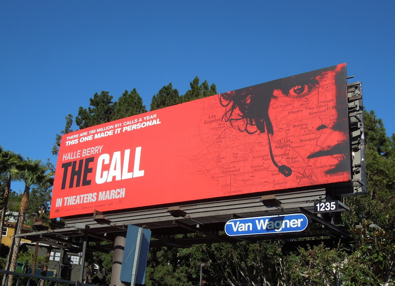 Halle Berry Call movie billboard