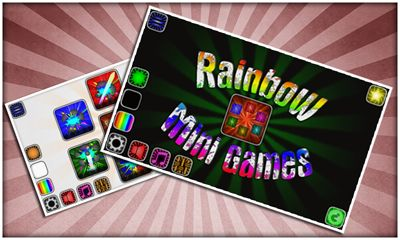 Screenshots of the Rainbow mini games for Android tablet, phone.