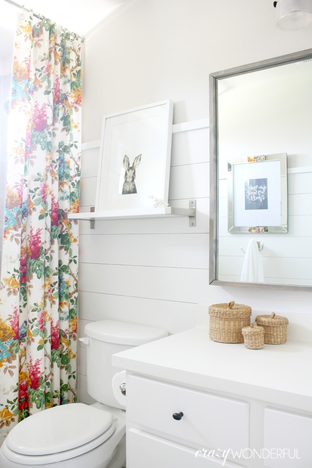 shiplap girls bathroom reveal - Girls Bathroom