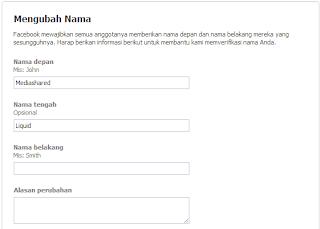 ganti nama facebook sepuasnya cara kedua