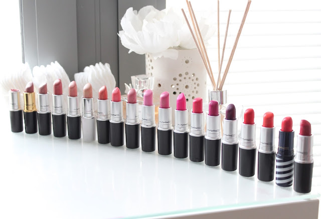 MAC Lipstick Collection, MAC Lipsticks, MAC Lipstick Collection and Swatches, MAC Lipstick Collection Beauty Blog, Couture Girl MAC Lipstick Collection