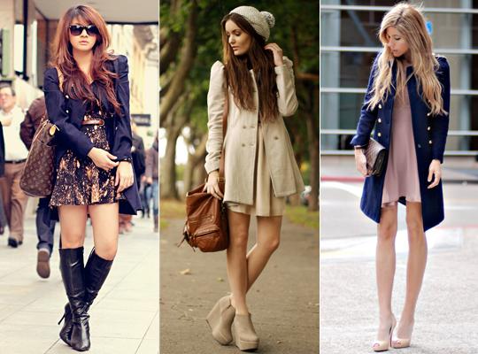 Looks com vestido sobretudo