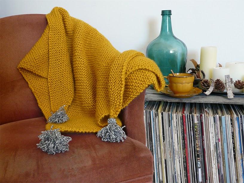 Trendy châle tricoté