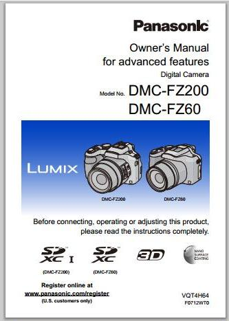 Panasonic LUMIX FZ200 Manual Cover