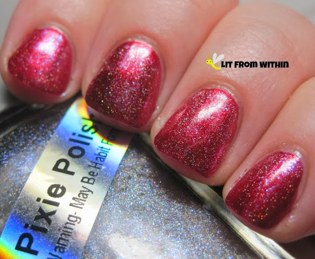 add a little sparkle with Pixie Polish Disco Peacock