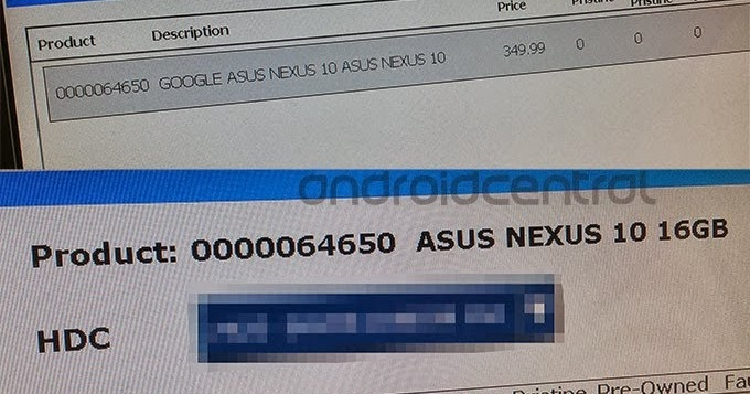 Google Nexus 10 2013 made by Asus leaked in PC World ...