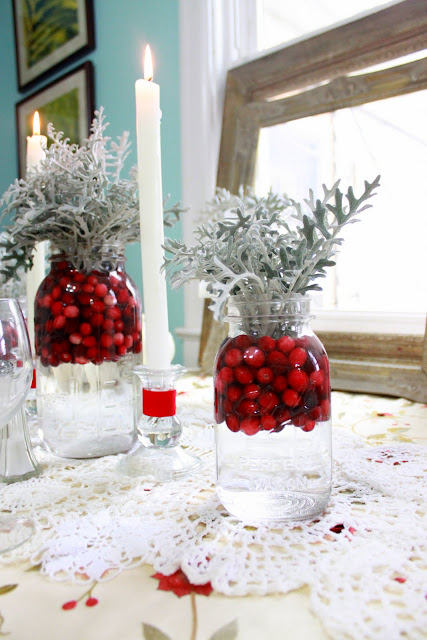 Cranberry centerpieces