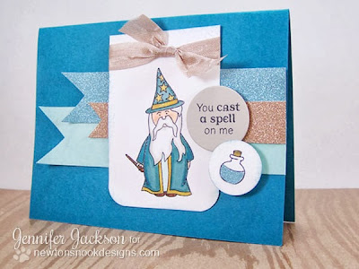Wizard card using Magical Dreams Stamp set from Newton's Nook Designs