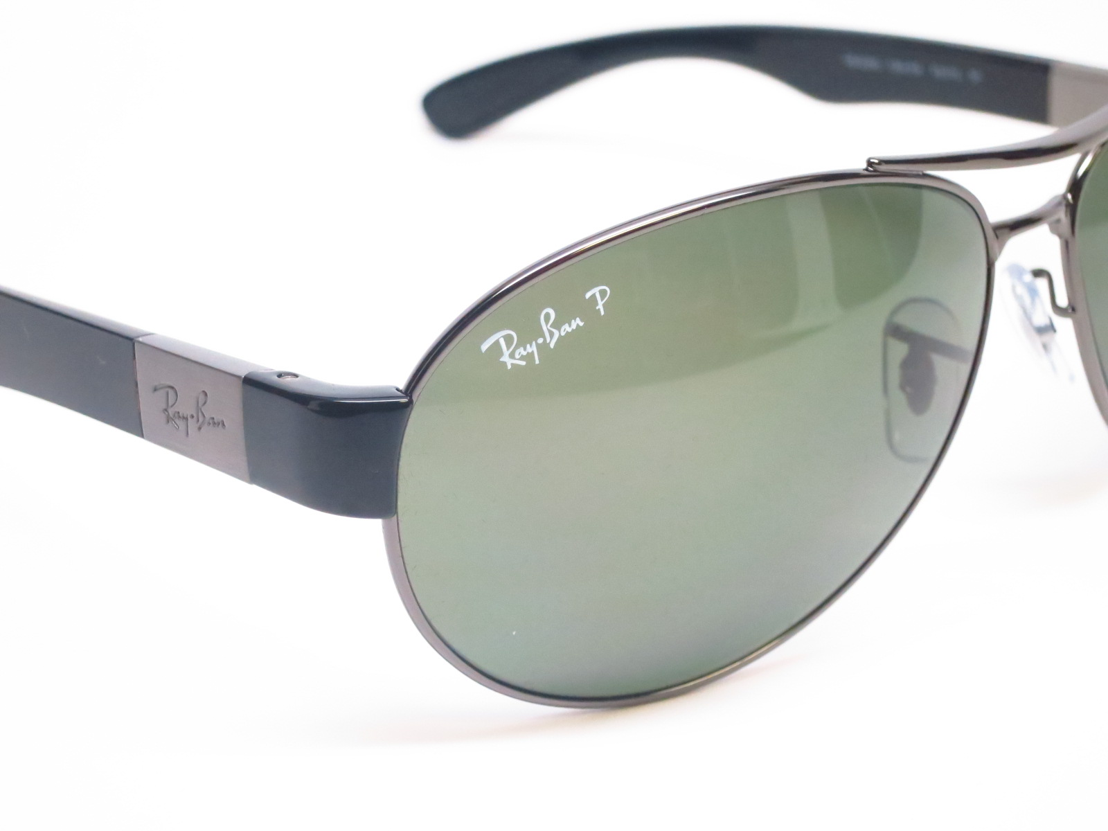 rb3509  Ray-Ban RB 3509 004/9A Gunmetal Polarized Sunglasses