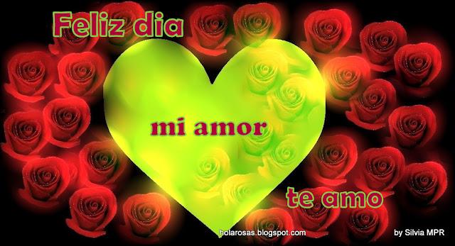 Imagenes De Rosas Rojas Y Corazones - Imágenes románticas de rosas rojas de amor con