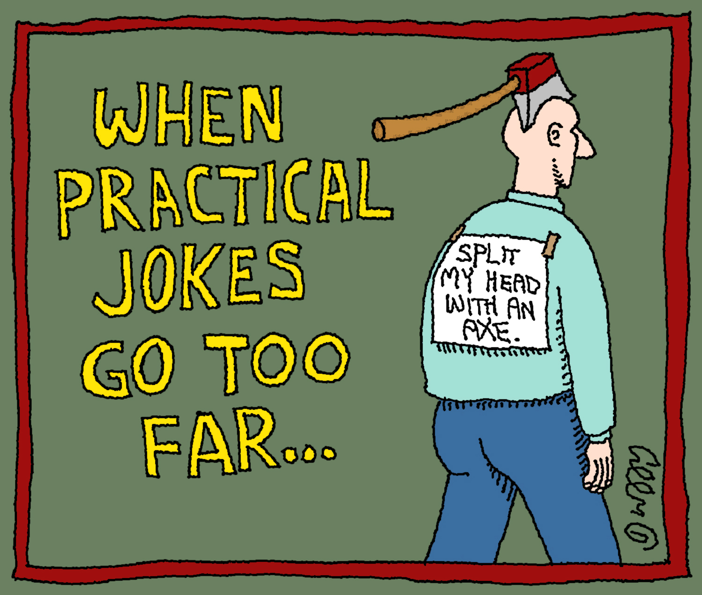 essay on a practical joke that failed