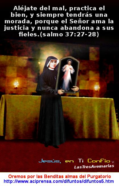 santa faustina y el cuadro divina misericordia con el salmo de la biblia