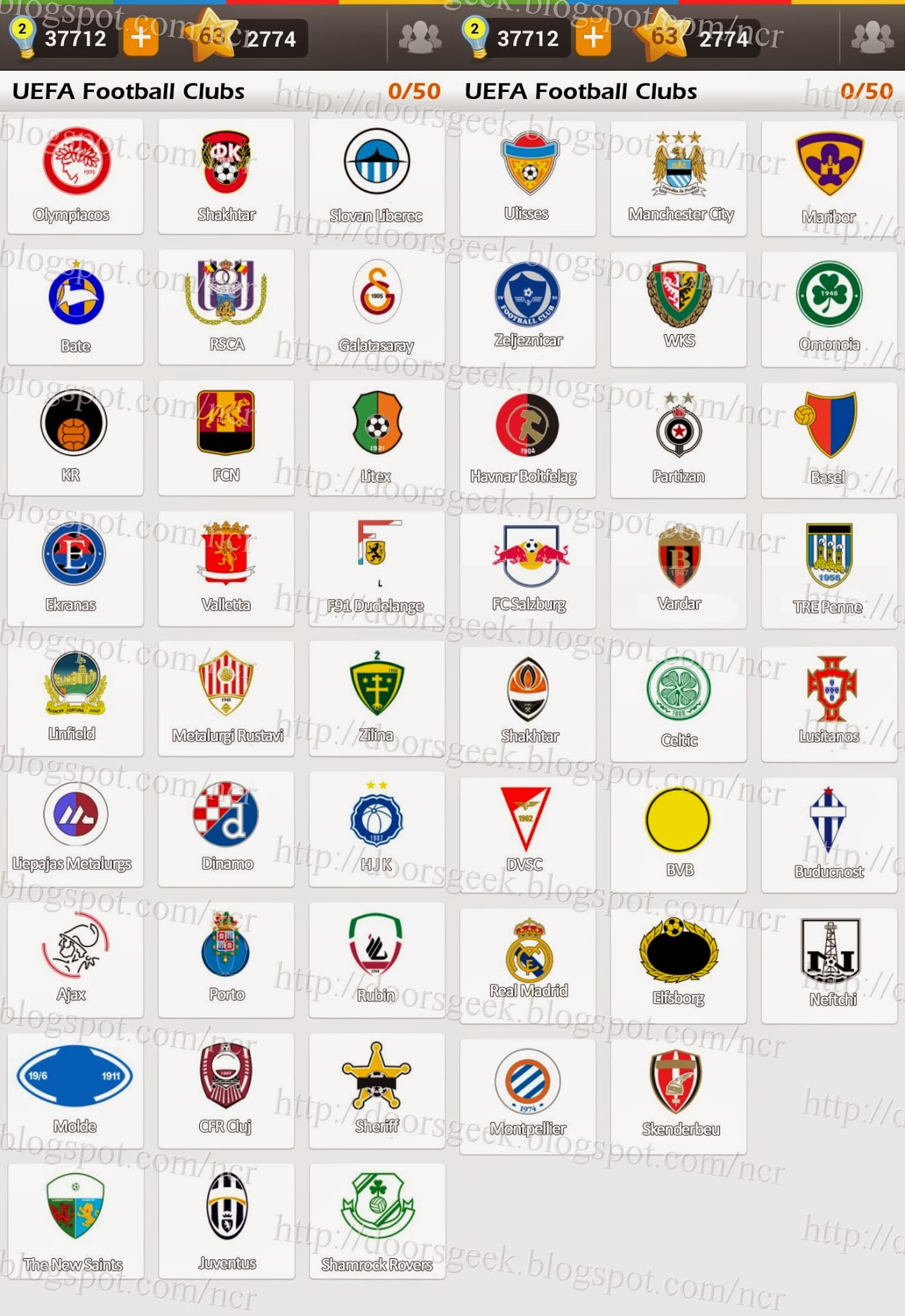 Bien-aimé Logo Game: Guess the Brand [Bonus] UEFA Football Clubs ~ Doors Geek BU33