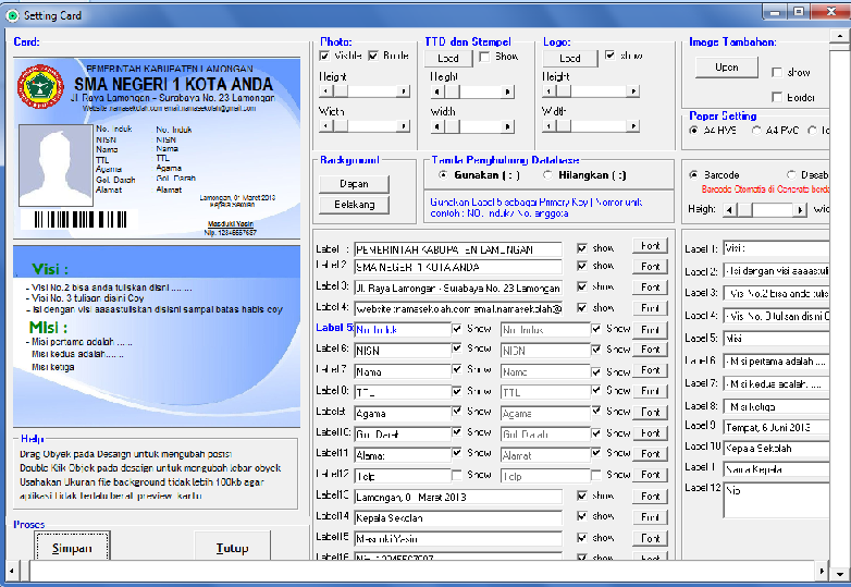 Software Kartu Pelajar full Versi