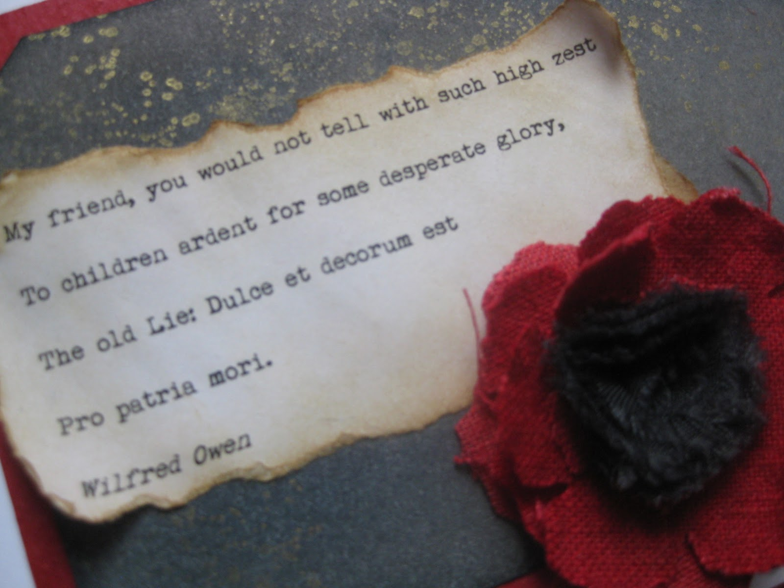 conflict in dulce et decrum est Free essay: attitudes to war in dulce et decorum est and drummer hodge life wasn't easy for soldiers in the war as wilfred owen and thomas hardy express.