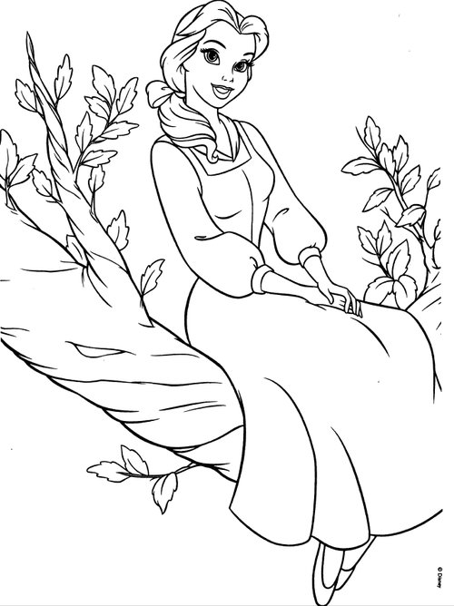 coloring pages disney princess belle - photo#11