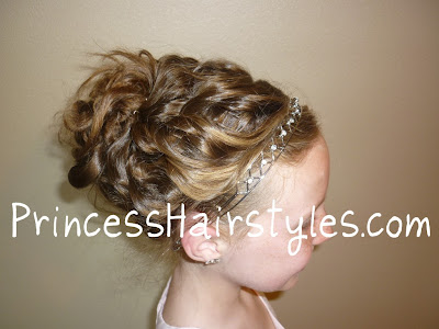 could see this working for a wedding hairstyle for the bride or