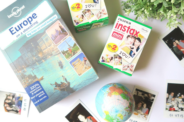 5- 20th Birthday Haul Blog Post- Lonely planet guide, polaroid film