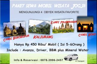 harga paket rental mobil untuk wisata Jogja