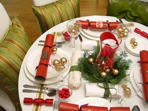 Εορταστικό τραπέζι Χριστουγέννων - Διακόσμηση