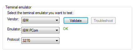 Validate Terminal Emulator in UFT