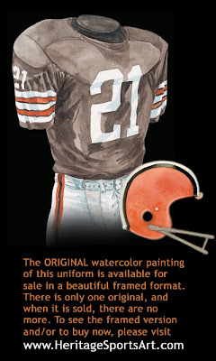 Cleveland Browns 1972 home uniform