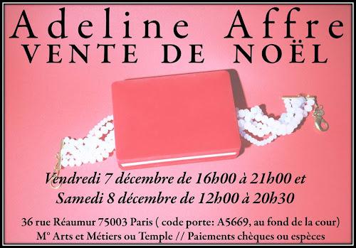 vente privee adeline Affre 7 et 8 décembre 36 rue Réaumur Paris 3ème