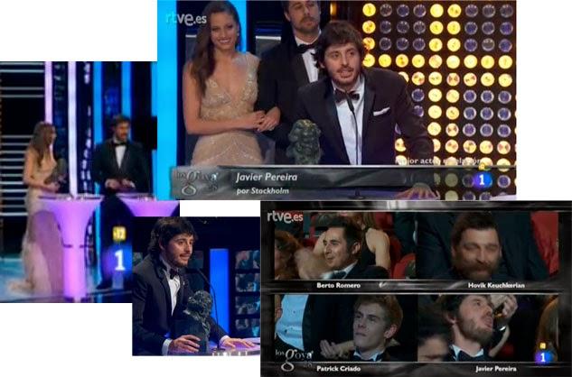 Javier Pereira, mejor actor revelación por Stockholm