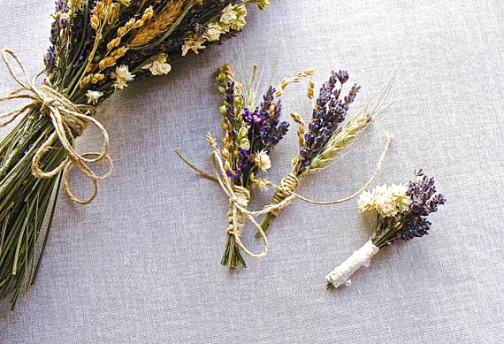 bridal bouquets made from these beautiful dried summer flowers are