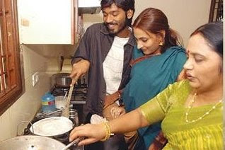 Dhanush and  Aishwarya in kichan