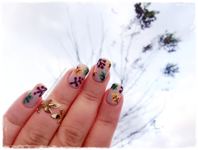Twinsie Tuesday: Inspired by the season | Fall Leaves Nail Art
