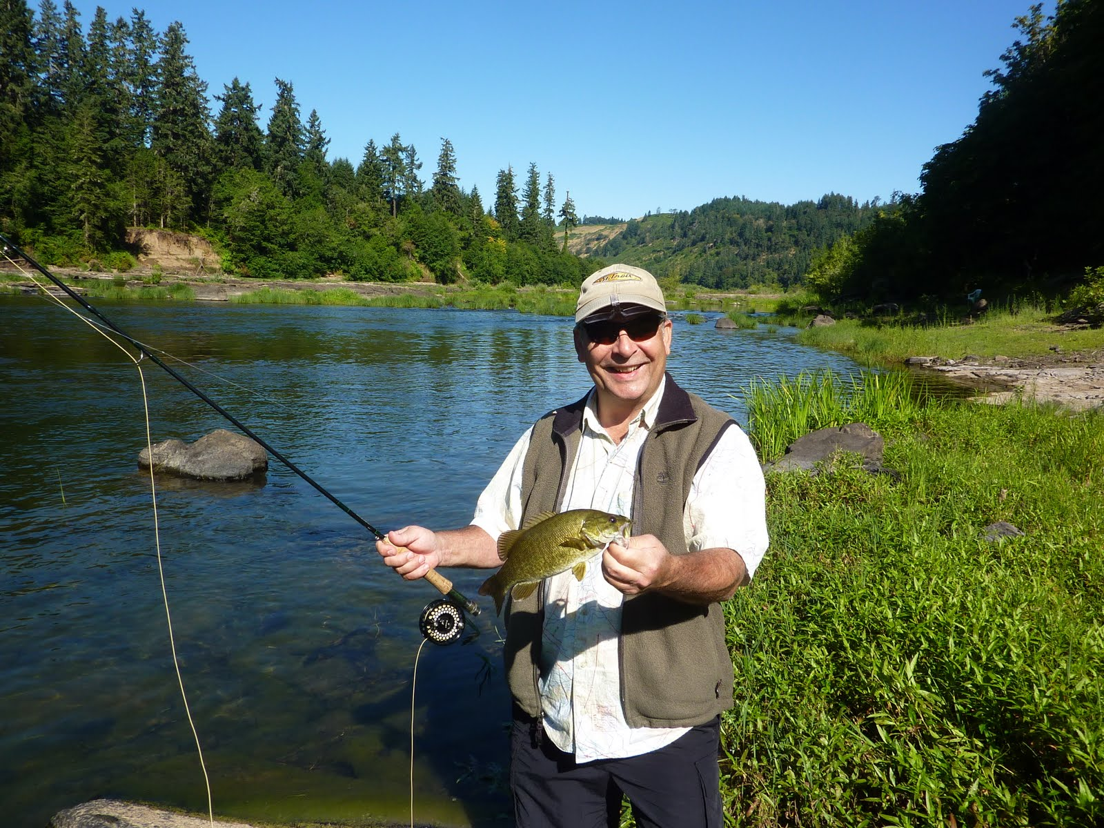 Brian marz 39 s fly fishing oregon blog perfect weather for Smallmouth bass fly fishing