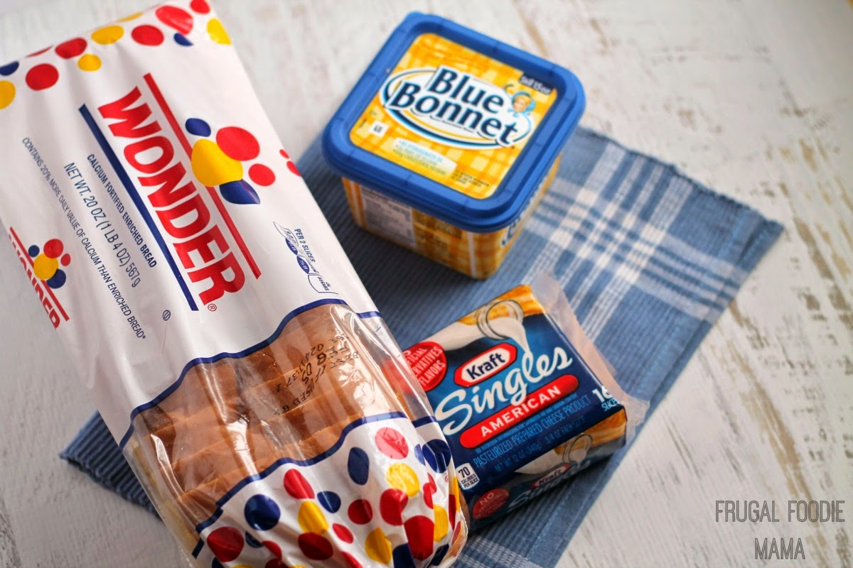 Kraft Singles, Wonder Bread, and Blue Bonnet spread are the foundation of any good grilled cheese. #ShareYourCheesy #ad