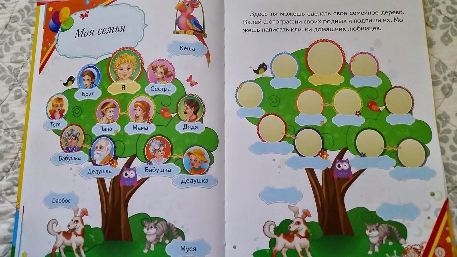 схема генеалогического дерева в ехеле