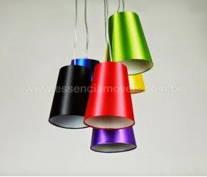 Luminária pendente color