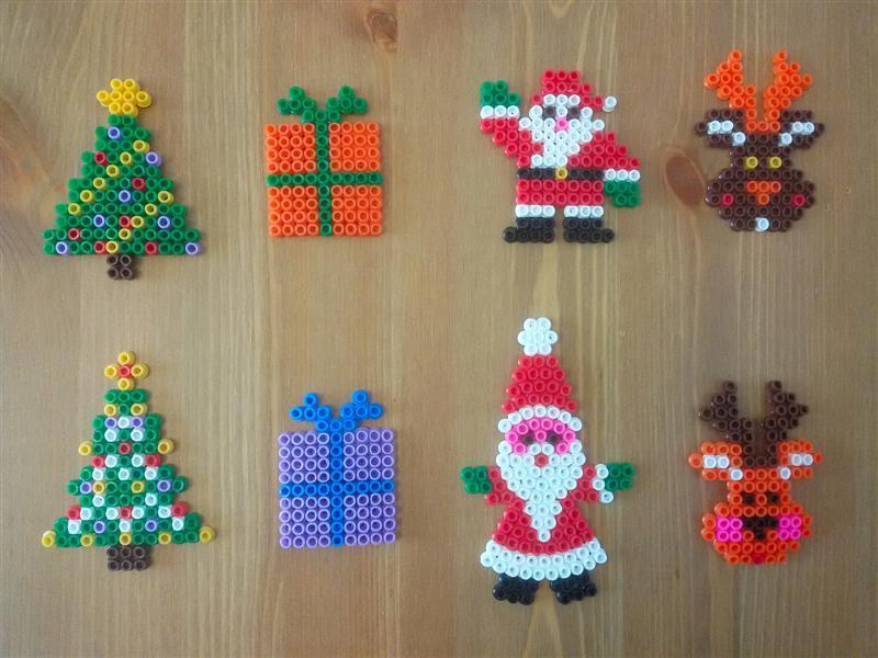 P creativa addobbi natalizi fai da te con pyssla - Addobbi natalizi per la tavola fai da te ...