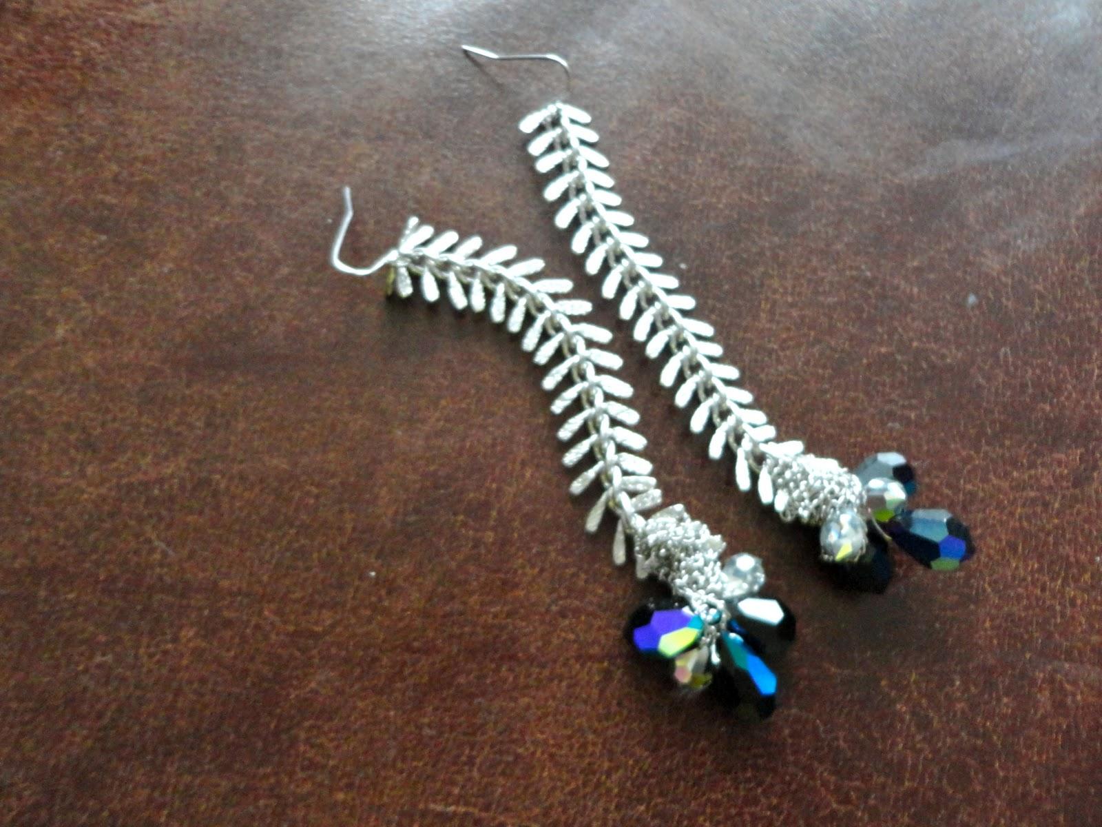 Diy Sparkly Fishbone Earrings