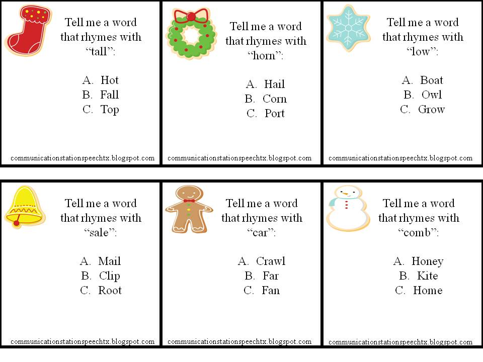 Worksheets Rhyming Sentences Examples communication station speech therapy pllc a perfect processing have your studentchild think of more words that rhyme with the example word create lists rhyming and compare how each wo