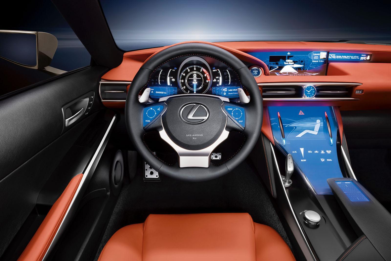 inside lexus - lexus coupe - new car lexus